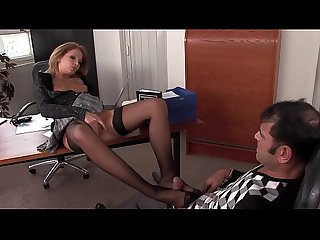 Interrogation at the police station with footjob
