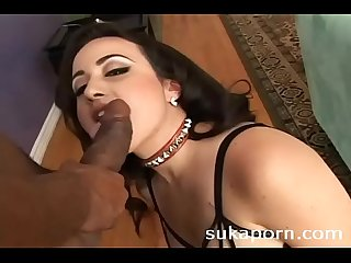 busty sexy slut in gangbang interracial sex