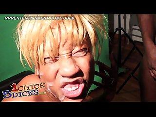 Extreme ebony teen gangbang at wild house party