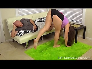 Big booty sister madisin lee wrestles then fucks step brother