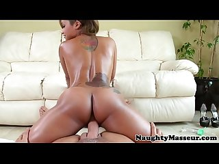 Tattooed masseuse skin diamond deepthroats