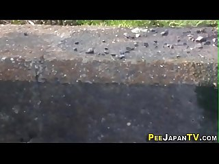 Japanese teens gush urine outdoors