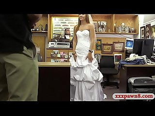 Girl in her wedding dress gets hammered by pawn keeper