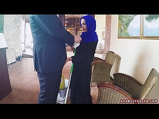 Arab cleaning lady slowy sucks cock