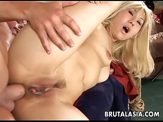 Blonde big ass bitch has a hot fuck to enjoy