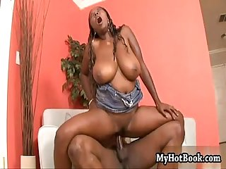 Stacy adams has a great set of ebony hooters and a