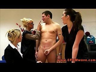 Rough femdom cfnm matures jerk off dude