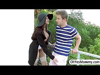 Milf ariella gives A sexual entertainment to angels boyfriend