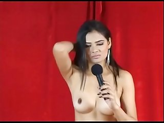 Indian model dancing Nude on stage