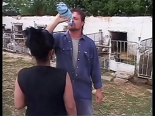 Girl with big tits fucked by a dirty farmer