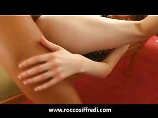 Rocco siffredi fucks A Hot chick on A leash