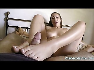 Kimber lee blows gives footjob bf after lunch date