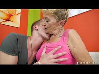 Old granny fucks the young mechanic lusty grandmas