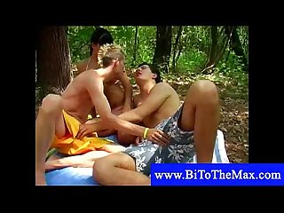 Bisexual boy pleases a couple