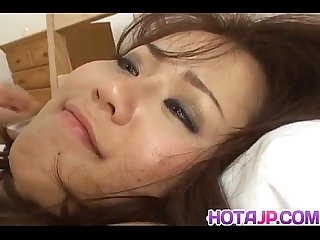 Megu ayase fingered and fucked in hairy twat