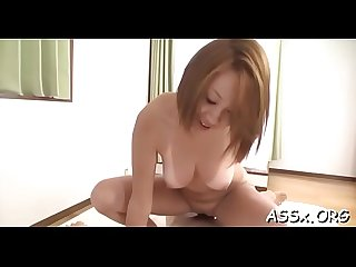Oral from asian babe in upskirt