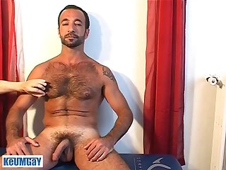 kamel a very sexy mature sport guy gets wanked his hard cock by a guy!