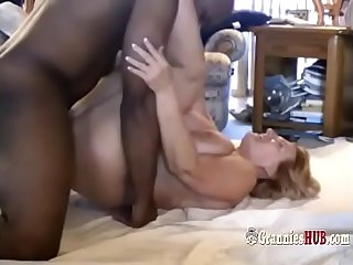 Hard BBC For Busty Granny Blonde