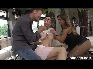 Black Angelica and Cayenne Klein wants Rocco's dick anally