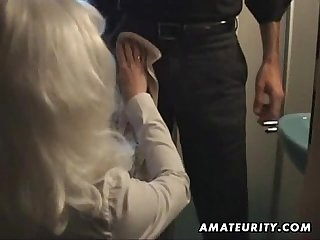 Amateur milf sucks and fucks at home with cumshot