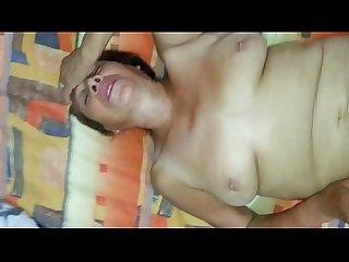 Abuelita 62 aos mamando
