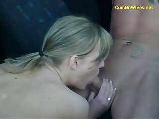 Young wife creamed in the car