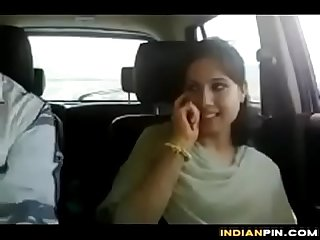 Indian girl hot fingring by boyfriend in car