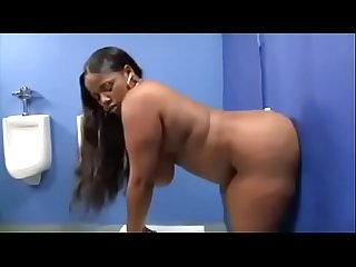 Beautiful big ass ebony fucks glory holes