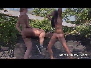 Lesbian pussy kicking