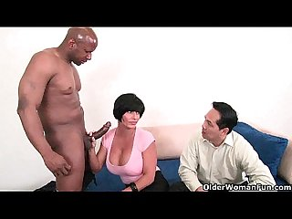 Cuckold hubby watches his wife being fucked by a huge black cock