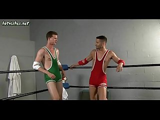 Wild gays having anal sex in the boxing ring