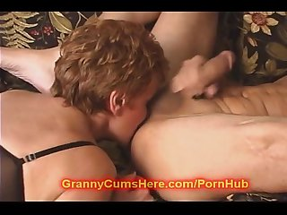 I creampied granny after receiving rimjob