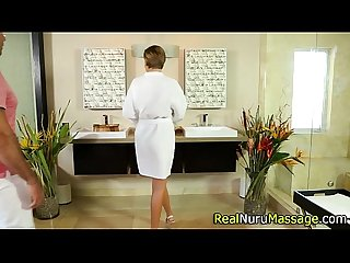 Nuru masseuse pounded