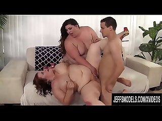 Fat Vixens Bella Bendz and Lady Lynn Seduce a Dude with Their Plump Pussies