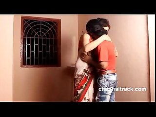 Beauty indian lady romance with young guy