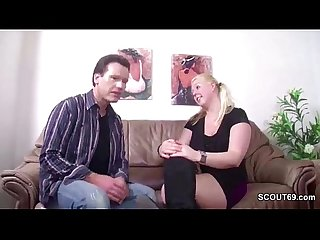 German blond milf with pigtails 15min period
