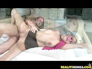 Addison o riley gets pummeled by the infamous milf hunter