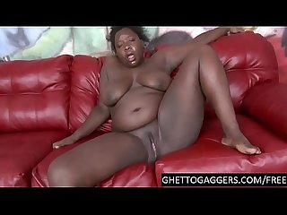 Throat & pussy abuse for black BBW