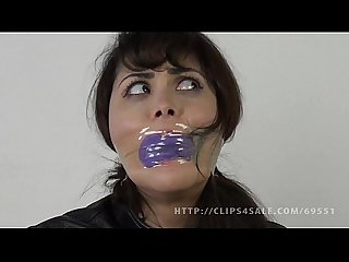 Audrey noir panties and tape gag