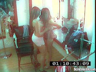 Cctv captures a hot and skanky lesbian affair