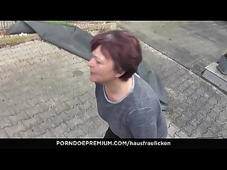 HAUSFRAU FICKEN - German Housewife gets full load on jiggly melons