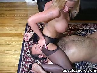 Lucky man got his tongue inside hot mistress ass hole