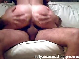 Latin girl fucked on couch