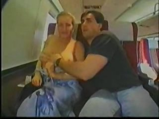 Blonde groped on train