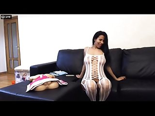Latina Milf Strips,Sucks, And Fucks Dildo on Cam - CamYamps.com