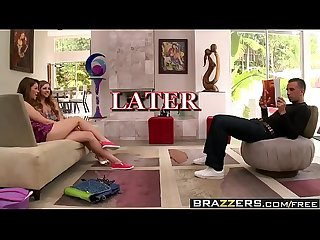 Brazzers teens like it big the Bj bonanza scene starring jessie andrews lexi belle and keiran le