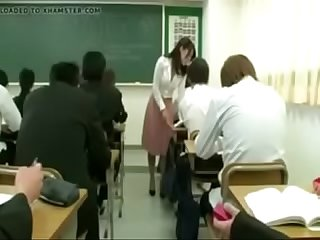 Teacher girl with dildo with remote control