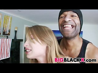 Petite white alyssa branch asks for black dick