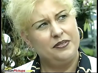 German bbw mom picked up for first anal