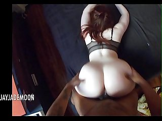 POV Naughty Redhead gives amazing blowjob � Amateur JayJadeMoon